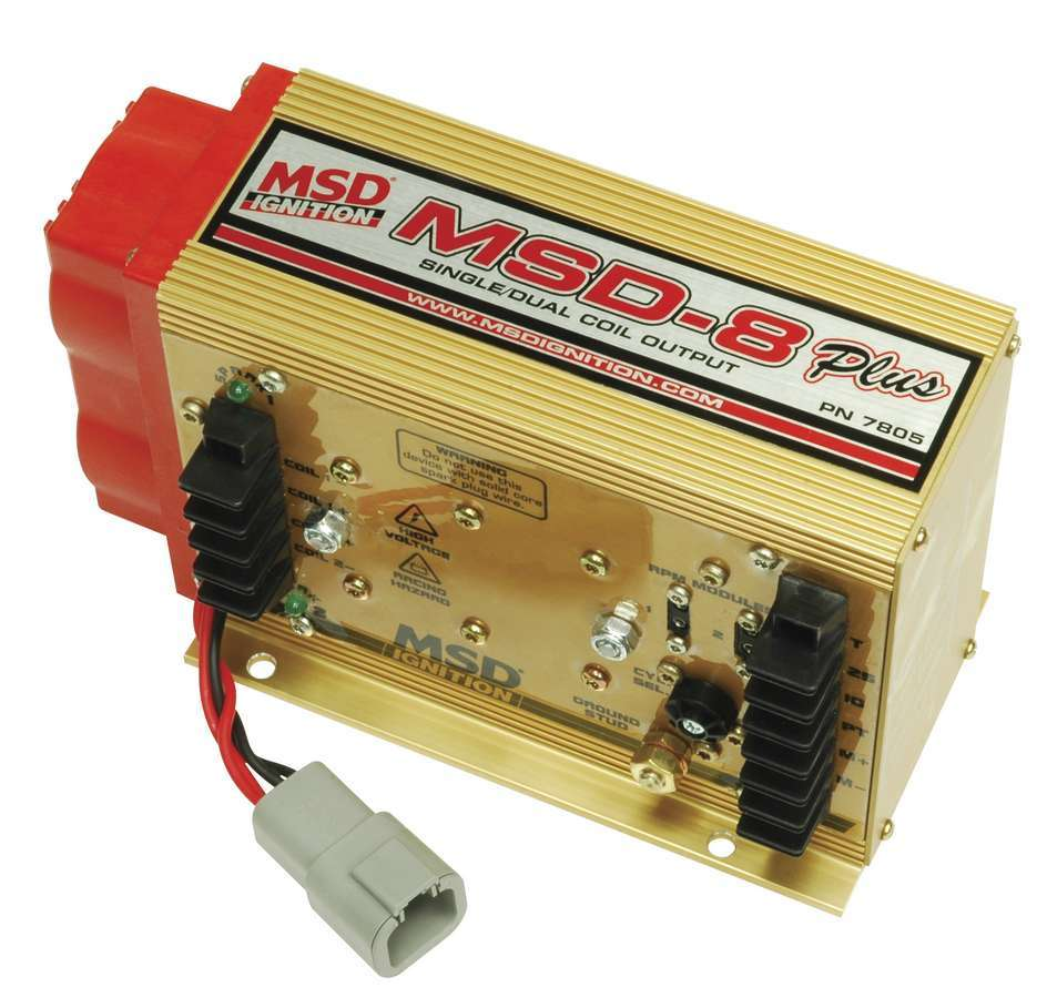 MSD Ignition 7805 Ignition Box, MSD 8 Plus, 50000V, 2-Step Rev Limiter, Single or Dual Coil Output, Each