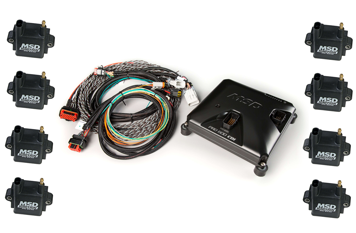 MSD Ignition 8000-8 Ignition Control Module, Pro 600 CDI, 8 Channel, Coils / Harness Included, Holley EFI Systems, Kit