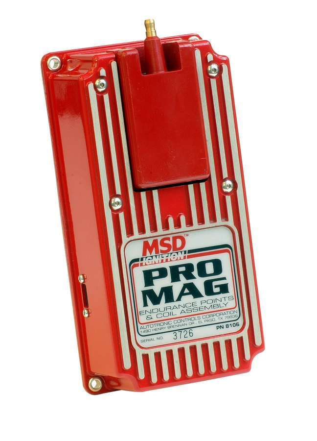 MSD Ignition 8106 Ignition Box, Pro Mag, Electronic Points Box, Rev Limiter, MSD Pro Mag 12, Each