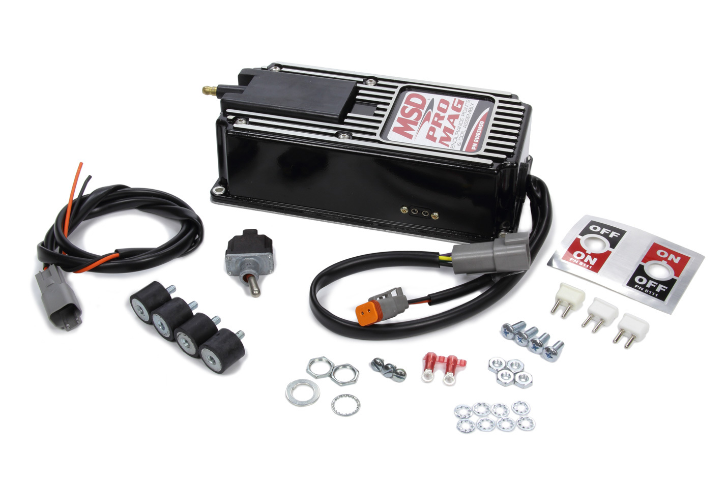 MSD Ignition 81063MSD Ignition Box, Pro Mag, Electronic Points Box, MSD Pro Mag 12, Black, Each
