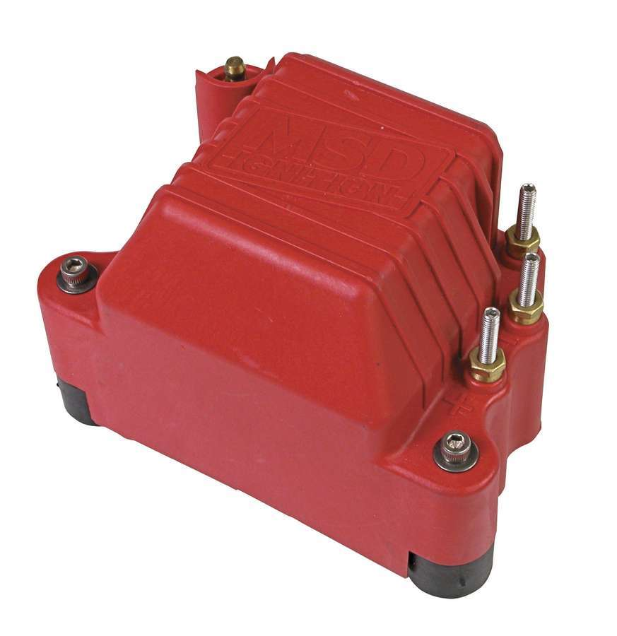 MSD Ignition 8142 Ignition Coil, Pro Mag 44, Magneto, Male HEI, 45000V, 44 amp, Red, Each