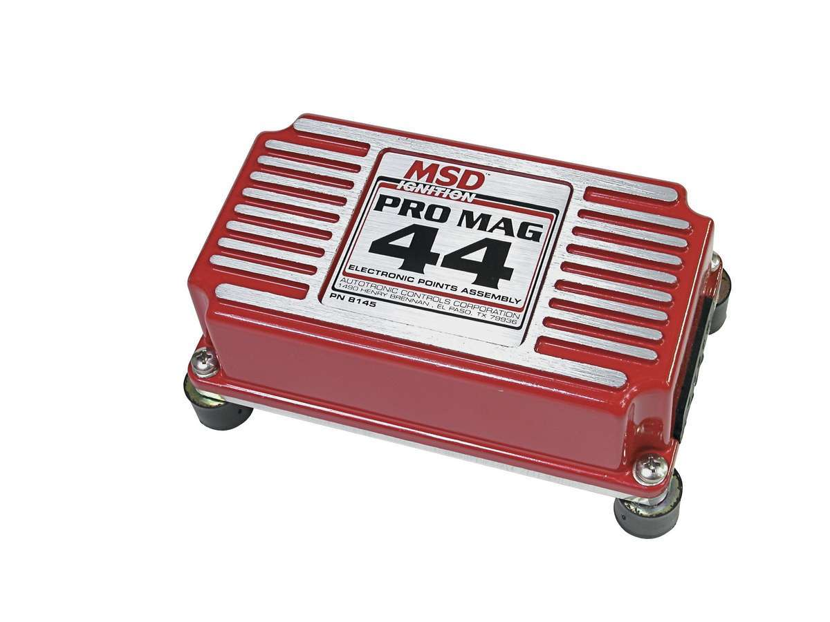 MSD Ignition 8145 Ignition Box, Pro Mag, Electronic Points Box, 26 Degree Spark Duration, Each