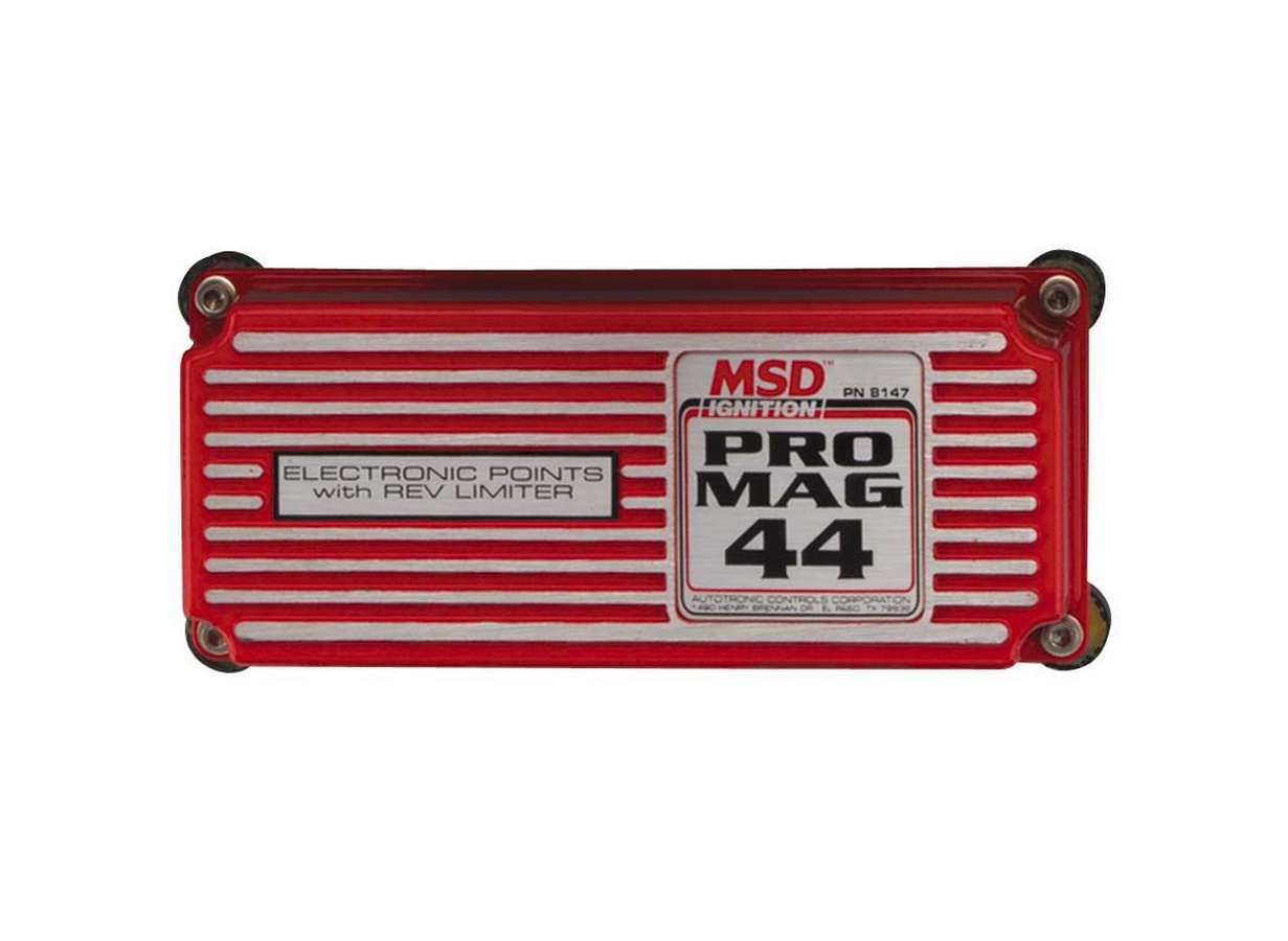 MSD Ignition 8147 Ignition Box, Pro Mag, Electronic Points Box, 26 Degree Spark Duration, Rev Limiter, Each