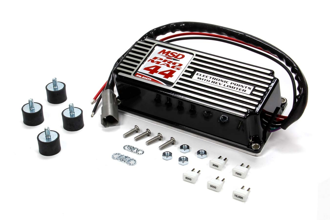 MSD Ignition 81473 Ignition Box, Pro Mag 44, Electronic Points Box, Rec Limiter, MSD Pro Mag 44, Black, Each