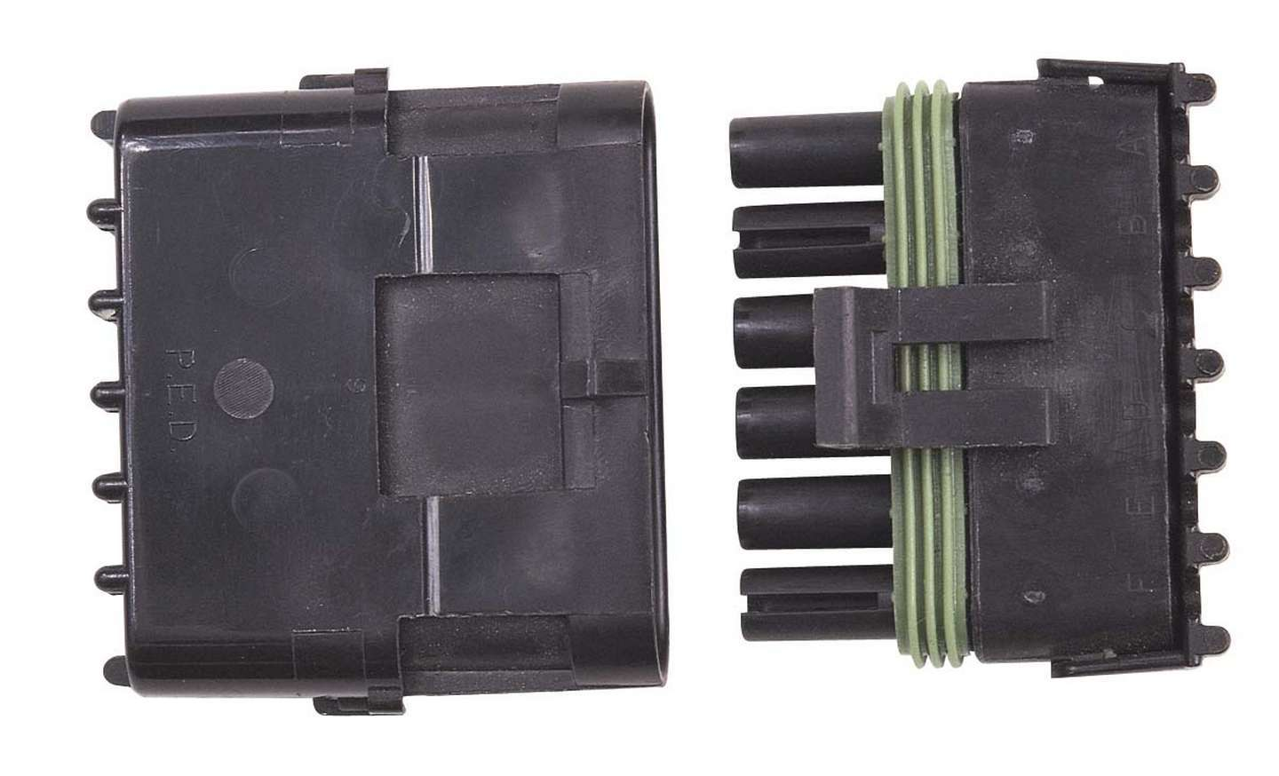 MSD Ignition 8170 Electrical Connector, Weathertight Sealed Connector, 6 Pin, Plastic, Black, Each