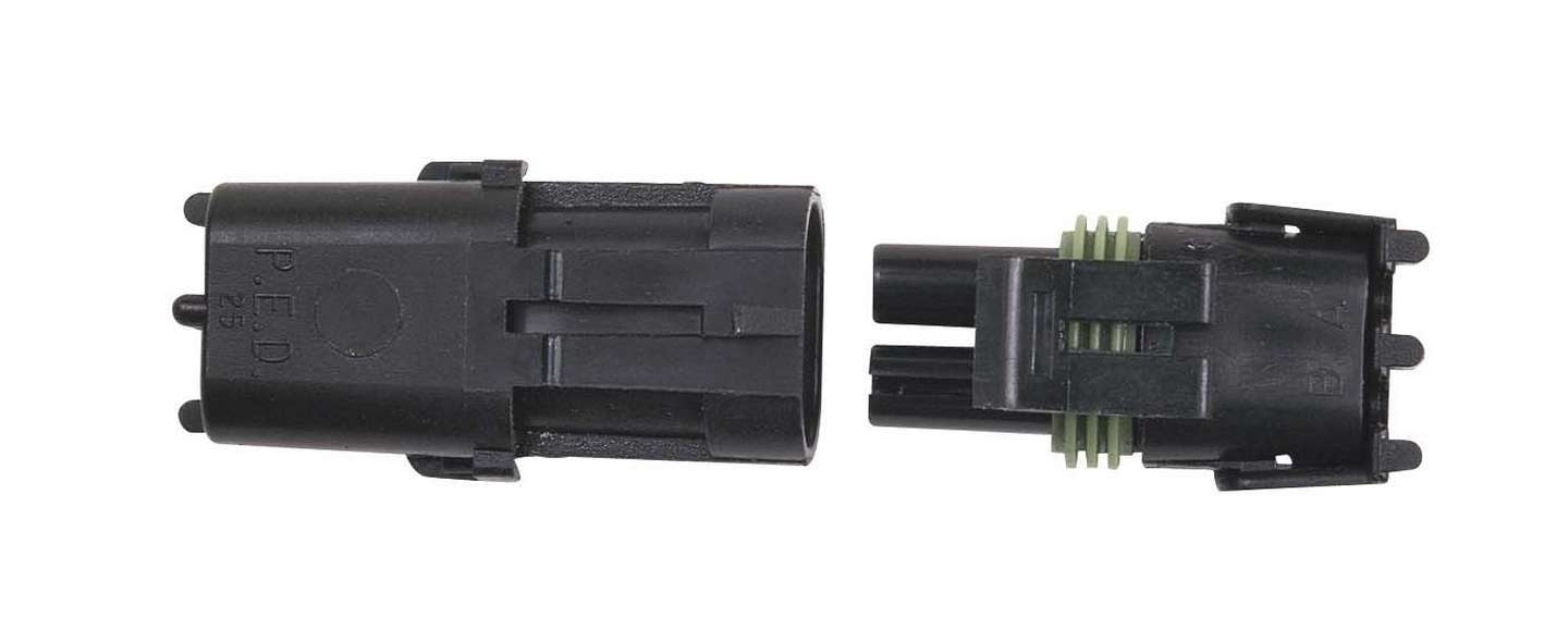 MSD Ignition 8173 Electrical Connector, Weathertight Sealed Connector, 2 Pin, Plastic, Black, Each