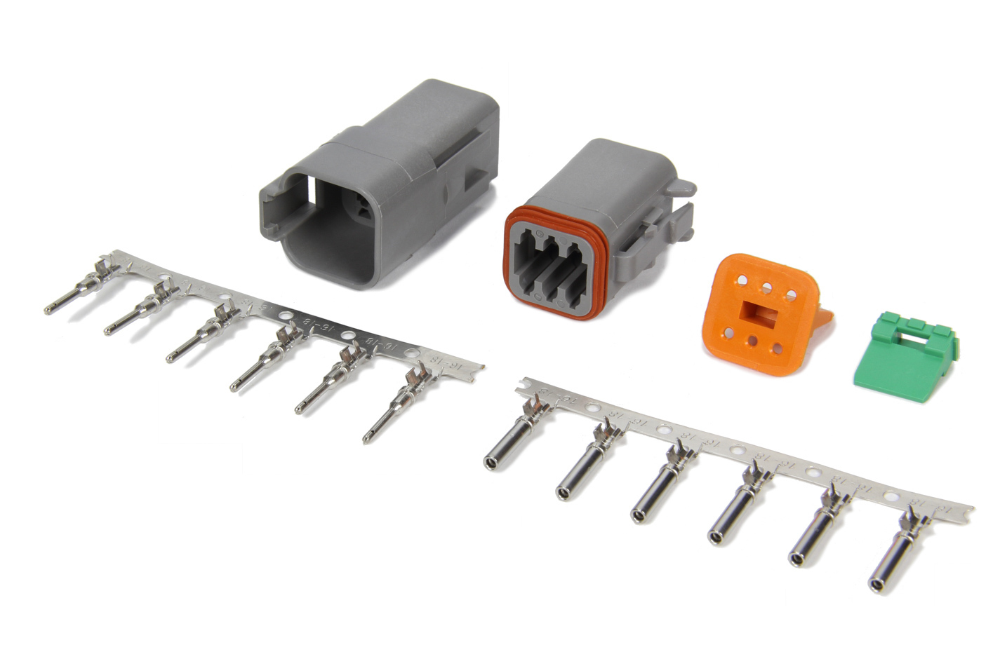 MSD Ignition 8180 Electrical Connector, Deutsch Connector, 6 Pin, 16 Gauge, Kit