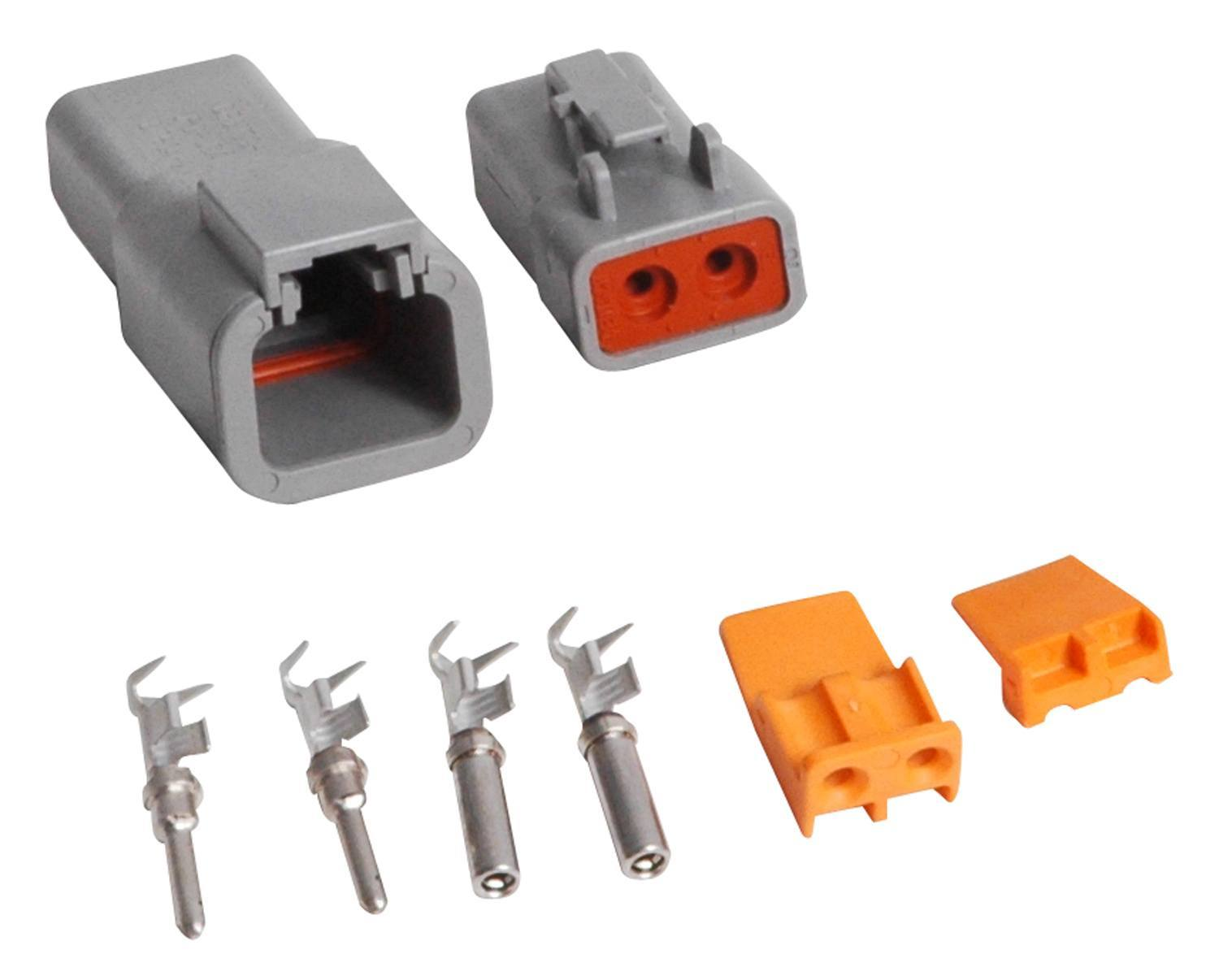 MSD Ignition 8184 Electrical Connector, Deutsch Connector, 2 Pin, 12-14 Gauge, Kit