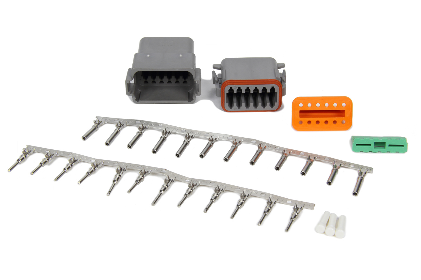 MSD Ignition 8186 Electrical Connector, Deutsch Connector, 12 Pin, 16 Gauge, Kit
