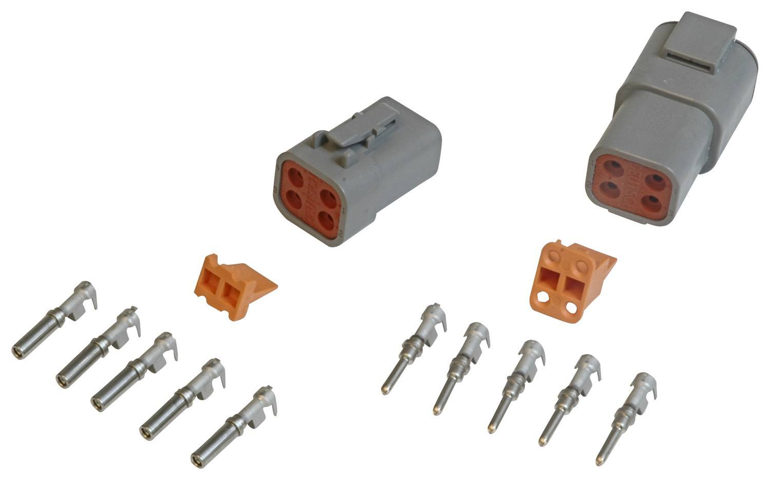 MSD Ignition 8187 Electrical Connector, Deutsch Connector, 4 Pin, 12-14 Gauge, Kit