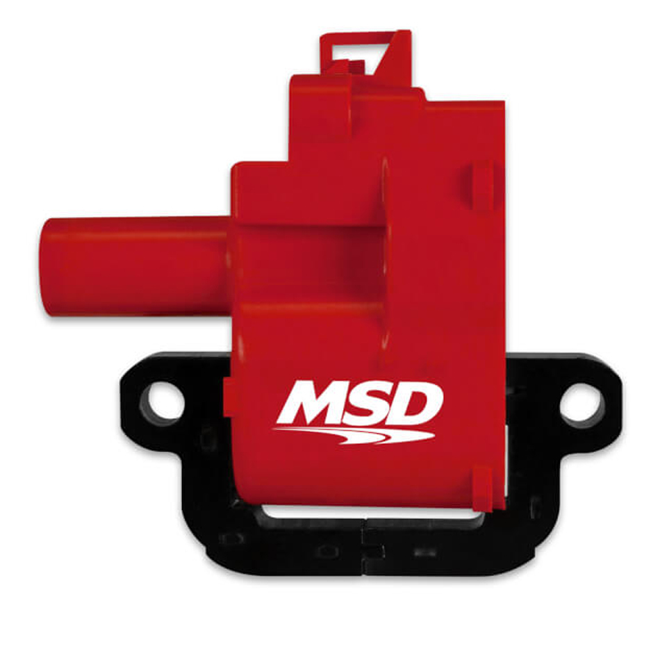 MSD Ignition 8262 Ignition Coil Pack, Blaster, Female Socket, Red, LS1 / LS6, GM LS-Series, Each