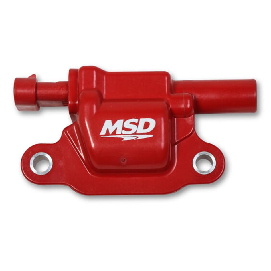 MSD Ignition 8266 Ignition Coil Pack, Blaster Gen V, Square, Female Socket, Red, GM Gen V LT-Series, Each