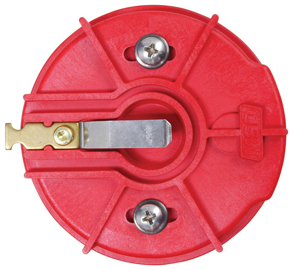MSD Ignition 8421 Distributor Rotor, Adjustable Rotor, Brass Terminal, MSD Cap-a-Dapt / Camshaft Sync, Each