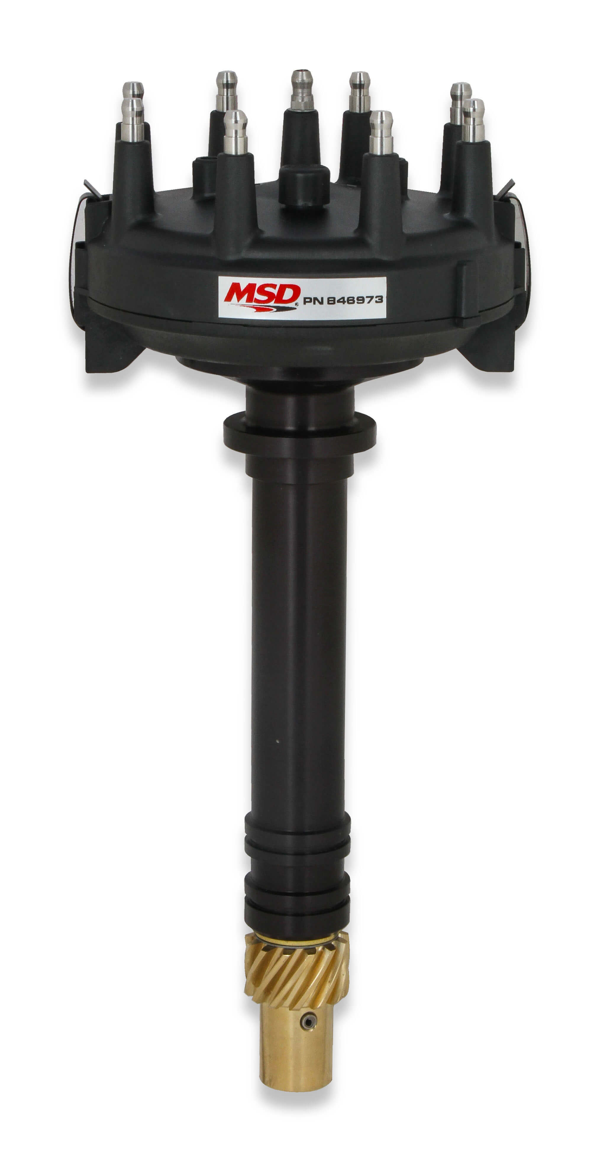MSD Ignition 846973 Distributor, Pro-Billet, Crank Trigger Pickup, Locked Advance, HEI Style Terminal, Low Profile, Black, Chevy V8, Each