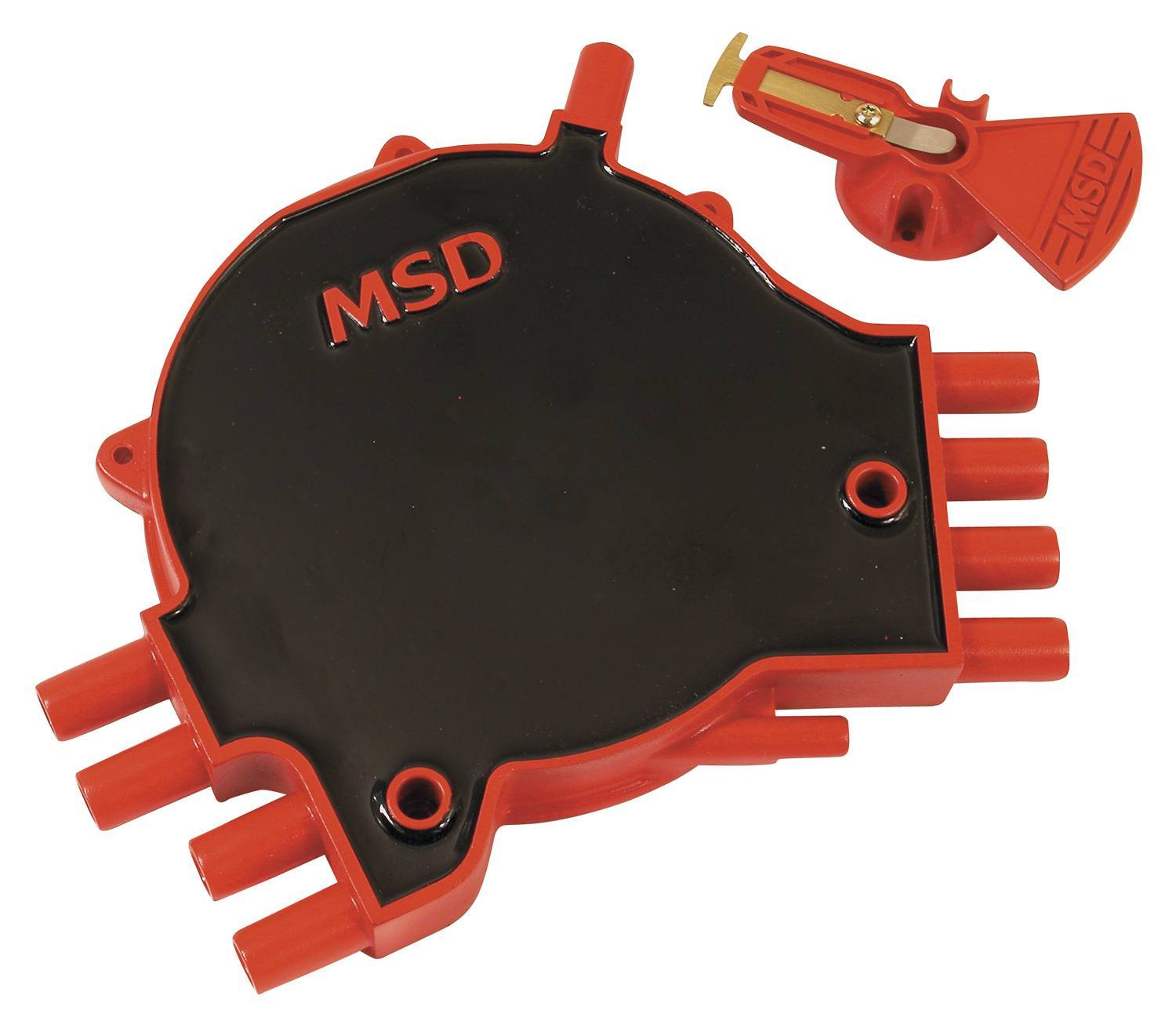 MSD Ignition 84811 Cap and Rotor Kit, Socket Style, Brass Terminals, Screw Down, Black / Red, Vented, GM LT-Series 1995-97, Kit