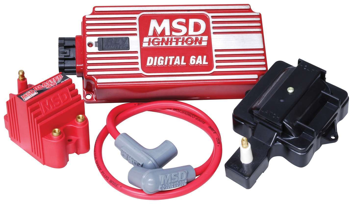 MSD Ignition 85001 Ignition Conversion Kit, Super HEI Kit, Converts to External, Digital 6AL, Blaster 2 Coil, Coil Wire, HEI Coil Cover, Chevy V6 / V8, Kit