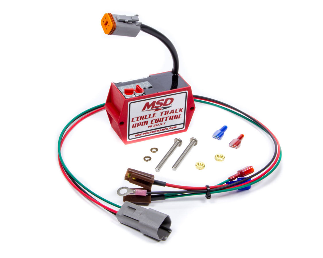MSD Ignition 8727CT Rev Limiter, 2 Step, Soft Touch Rev Control, Adjustable, 3000-9900 RPM, 100 RPM Increments, HEI Distributor, Each
