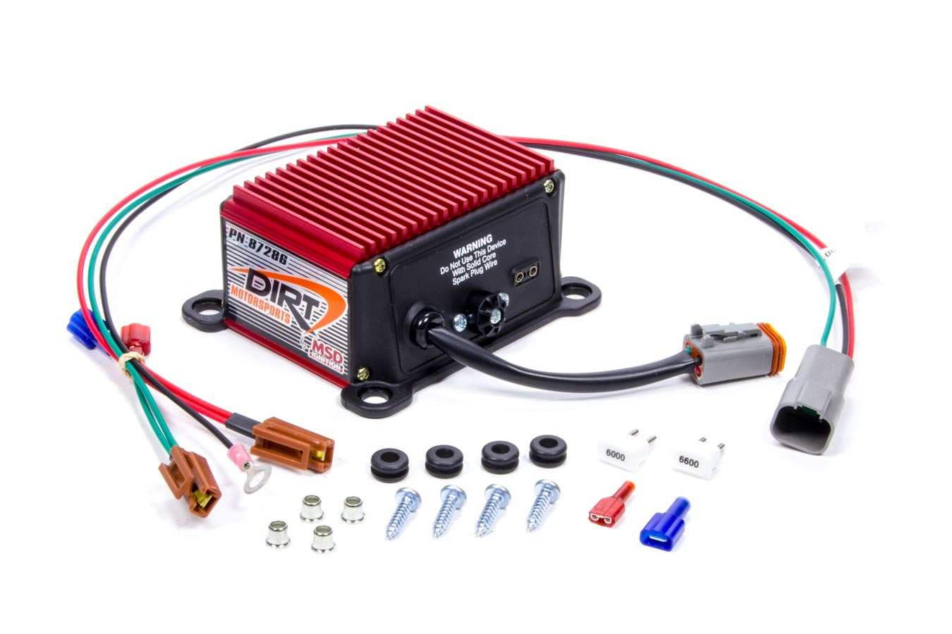 MSD Ignition 87286 Rev Limiter, D.I.R.T Spec, Soft Touch Rev Control, Chip Adjustable, 6000 / 7000 / 8000 RPM Modules, Standard Points Ignition Systems, Each