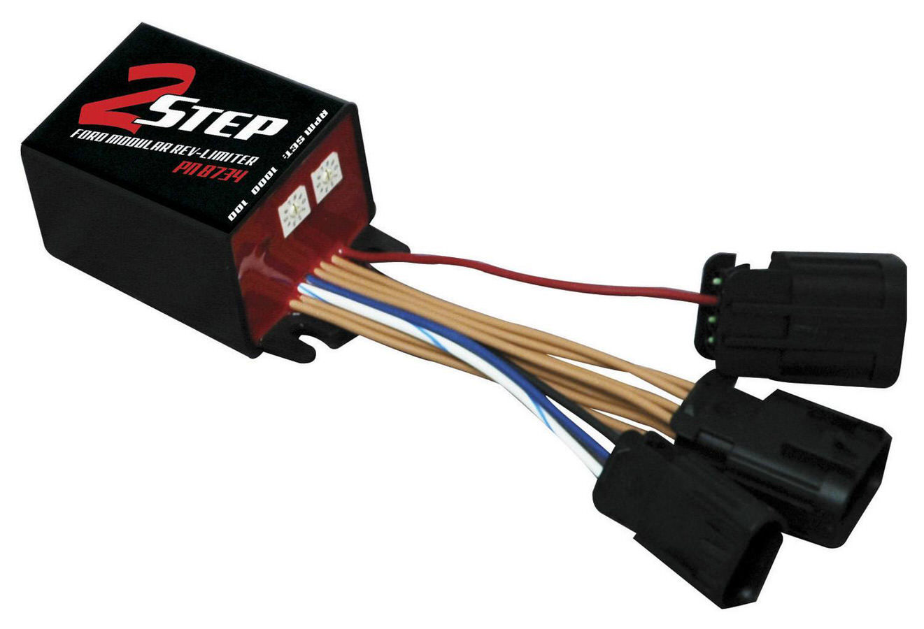 MSD Ignition 8734 Rev Limiter, 2-Step, Launch Control, Adjustable, 1800-9900 RPM, 100 RPM Increments, Factory Connections, Ford Modular, Each