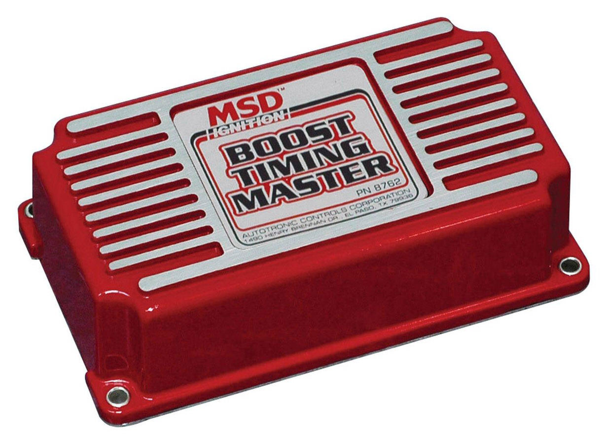 MSD Ignition 8762 Timing Controller, Boost Timing Master, 1-3 Degrees Per Pound of Boost, Up to 15 Degrees Total Retard, MSD 6 / 7 / 8-Series Ignitions, Each