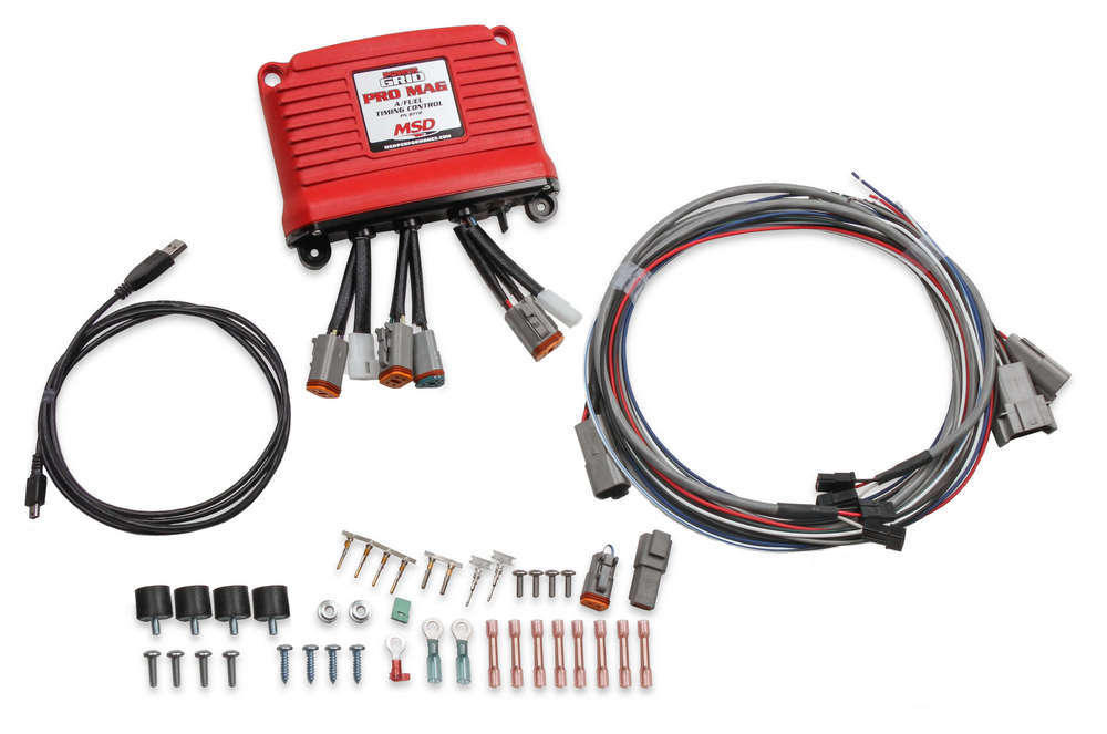 MSD Ignition 8772 Ignition Controller, Pro Mag A/Fuel, Digital, Programmable, MSD Pro Mag 44 Drag Racing, Each