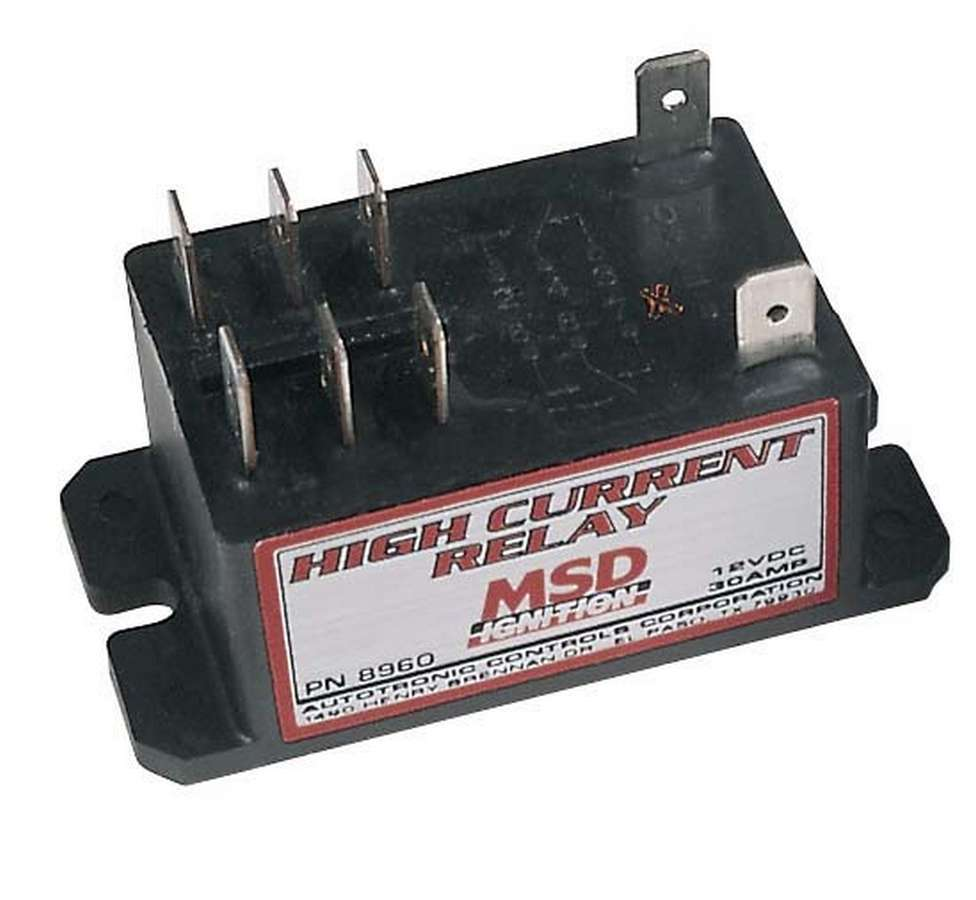 MSD Ignition 8960 Relay Switch, High Current Relay, Double Pole, Double Throw, 30 amp, 12V, Universal, Each