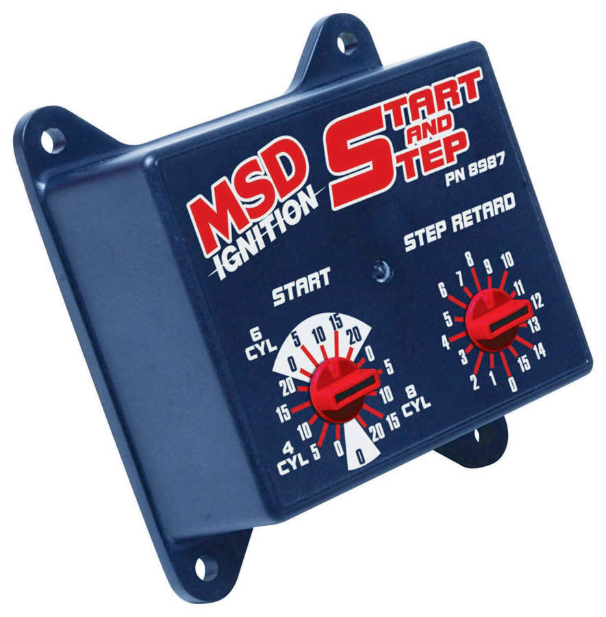 MSD Ignition 8987 Timing Controller, Start and Step Retard Control, Stage Retard 1-15 Degrees, Each