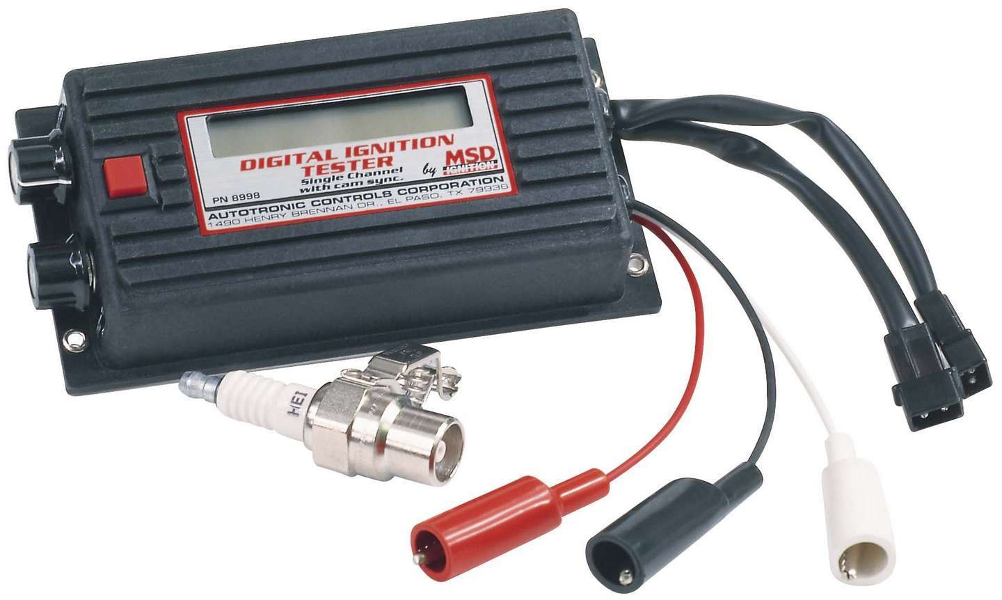 MSD Ignition 8998 Ignition Tester, Single Channel Digital Ignition Tester, Test all MSD CD/DIS Single Channel Ignitions, Each