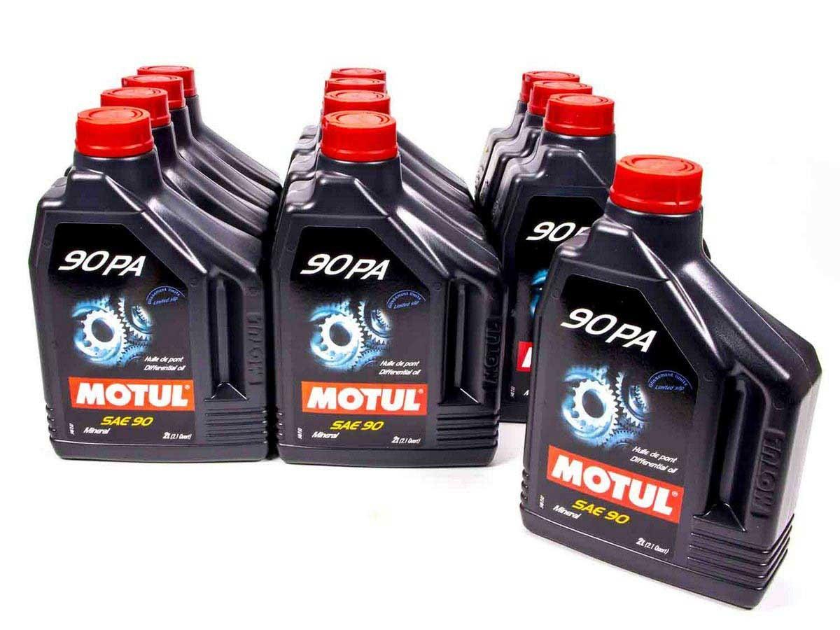 Motul 100122-12 Gear Oil, 90PA, 90W, Conventional, 2 L Bottle, Set of 12