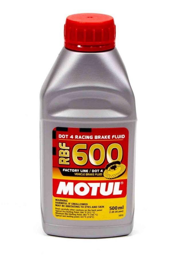 Motul 100949 Brake Fluid, RBF 600 Factory Line, DOT 4, Synthetic, 500 ml, Each