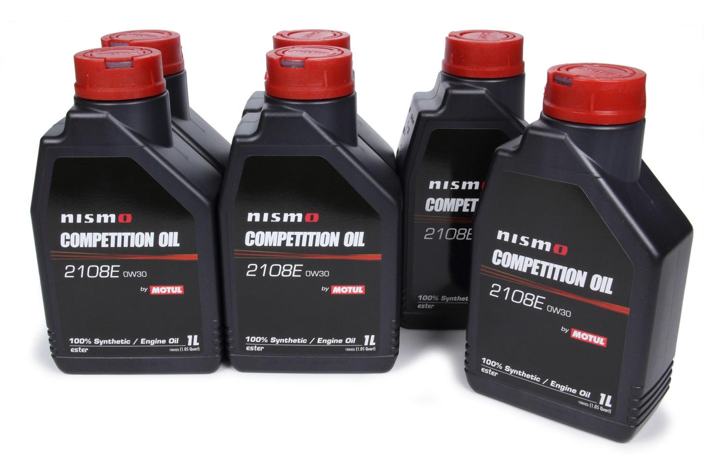 Motul 102497-6 Motor Oil, Nismo, 0W30, Synthetic, 1 L Bottle, Set of 6