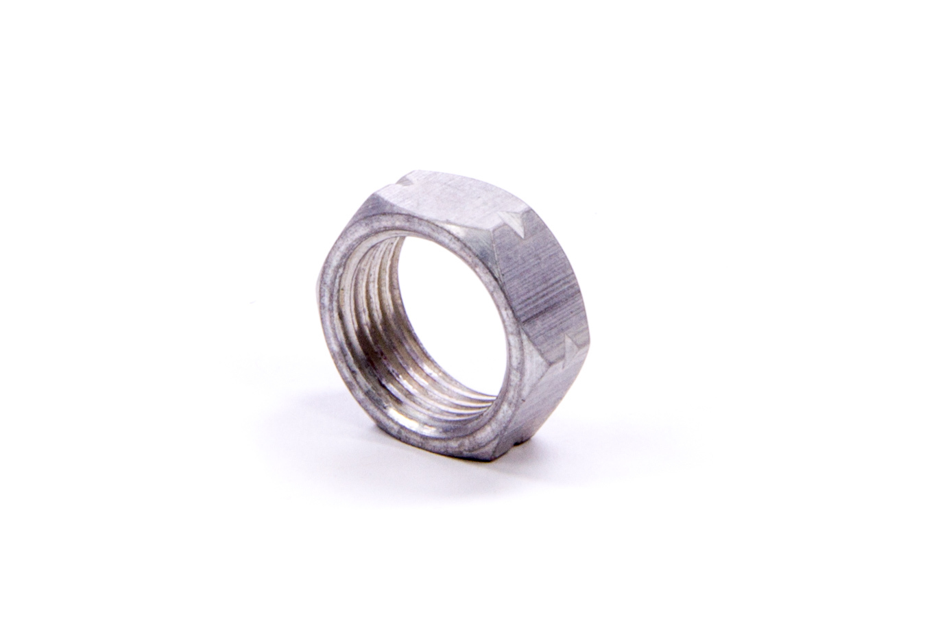 M & W Aluminum Products AJN-10R Jam Nut, 5/8-18 in Right Hand Thread, 5/16 in Thick, Aluminum, Natural, Each