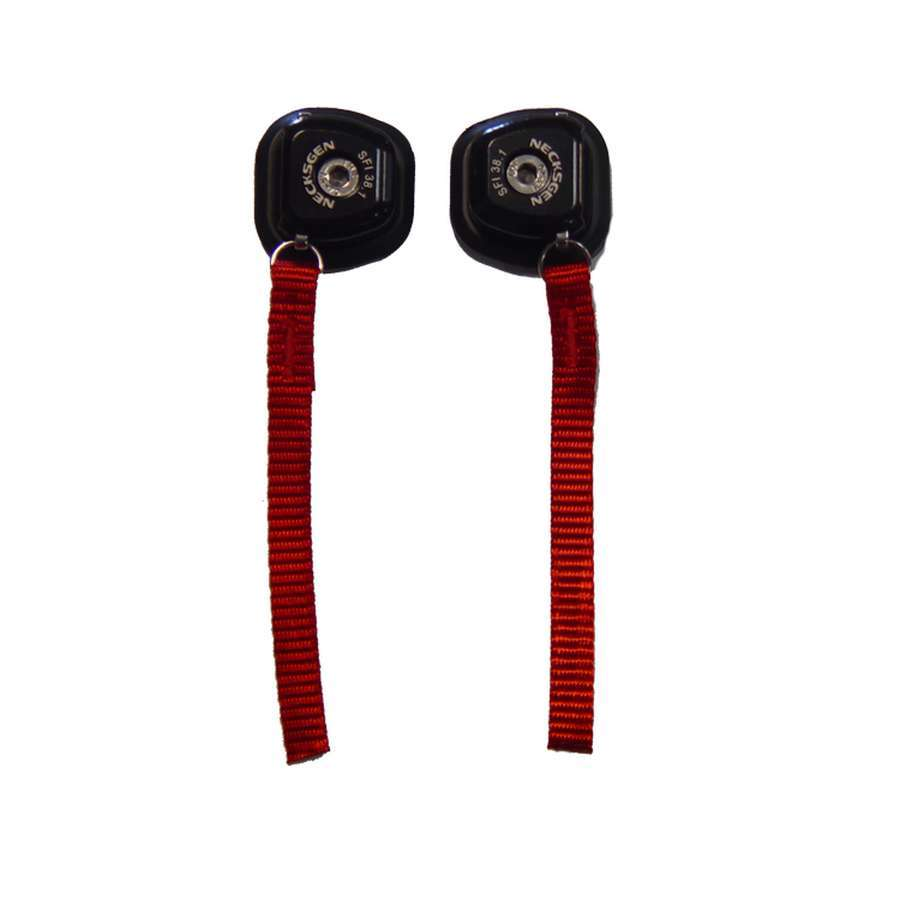 Necksgen NG7 Head and Neck Support Hardware, Quick Release, Black, Red Tether, Kit