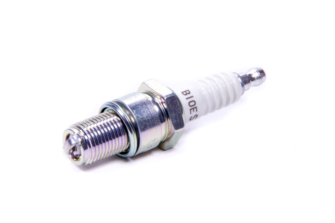 NGK B10ES Spark Plug, NGK Standard, 14 mm Thread, 0.749 in Reach, Gasket Seat, Stock Number 7928, Non-Resistor, Each