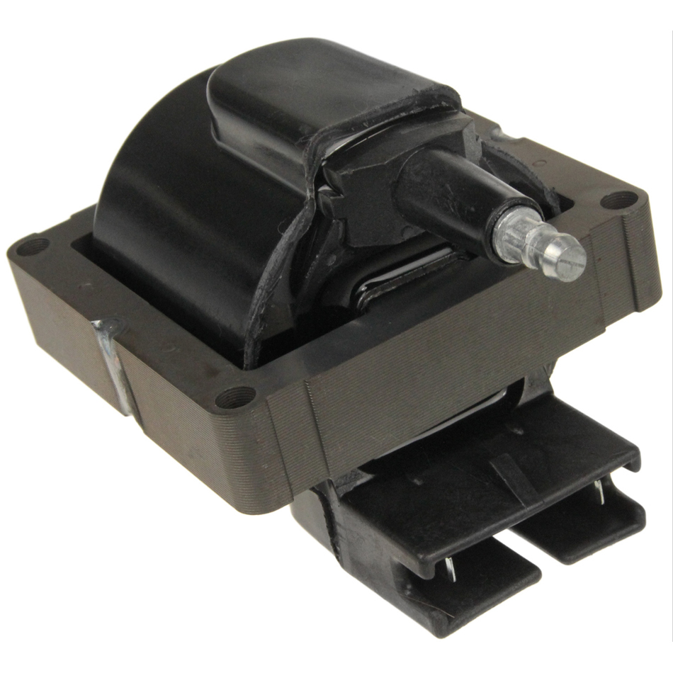 NGK U1090 Ignition Coil, Male HEI Style, OE Specs, 2 Blade Terminal, Electronic Ignition, Black, Each