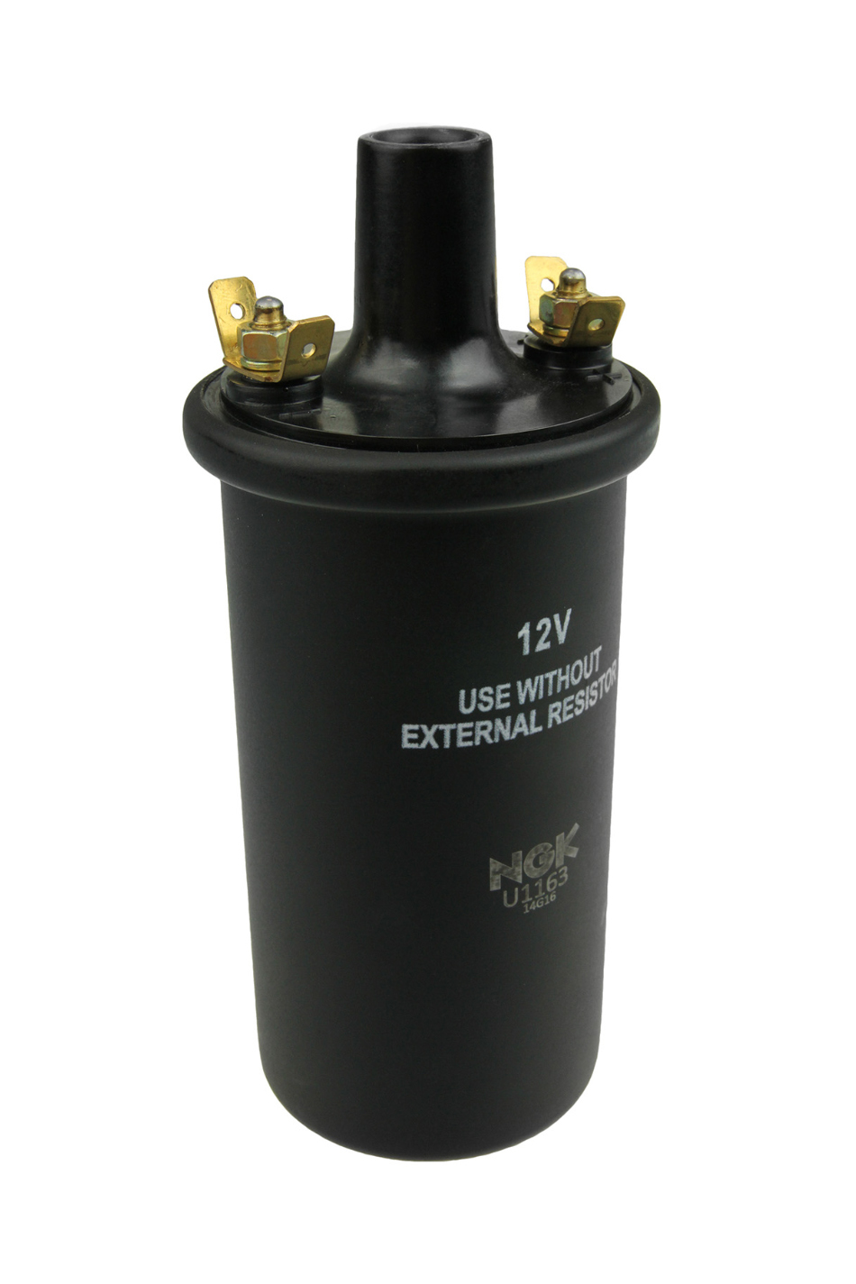 NGK U1163 Ignition Coil, Oil Filled Canister, OE Specs, 4 Male Blade Terminal, 12 VDC, Standard Ignition, Black, Each