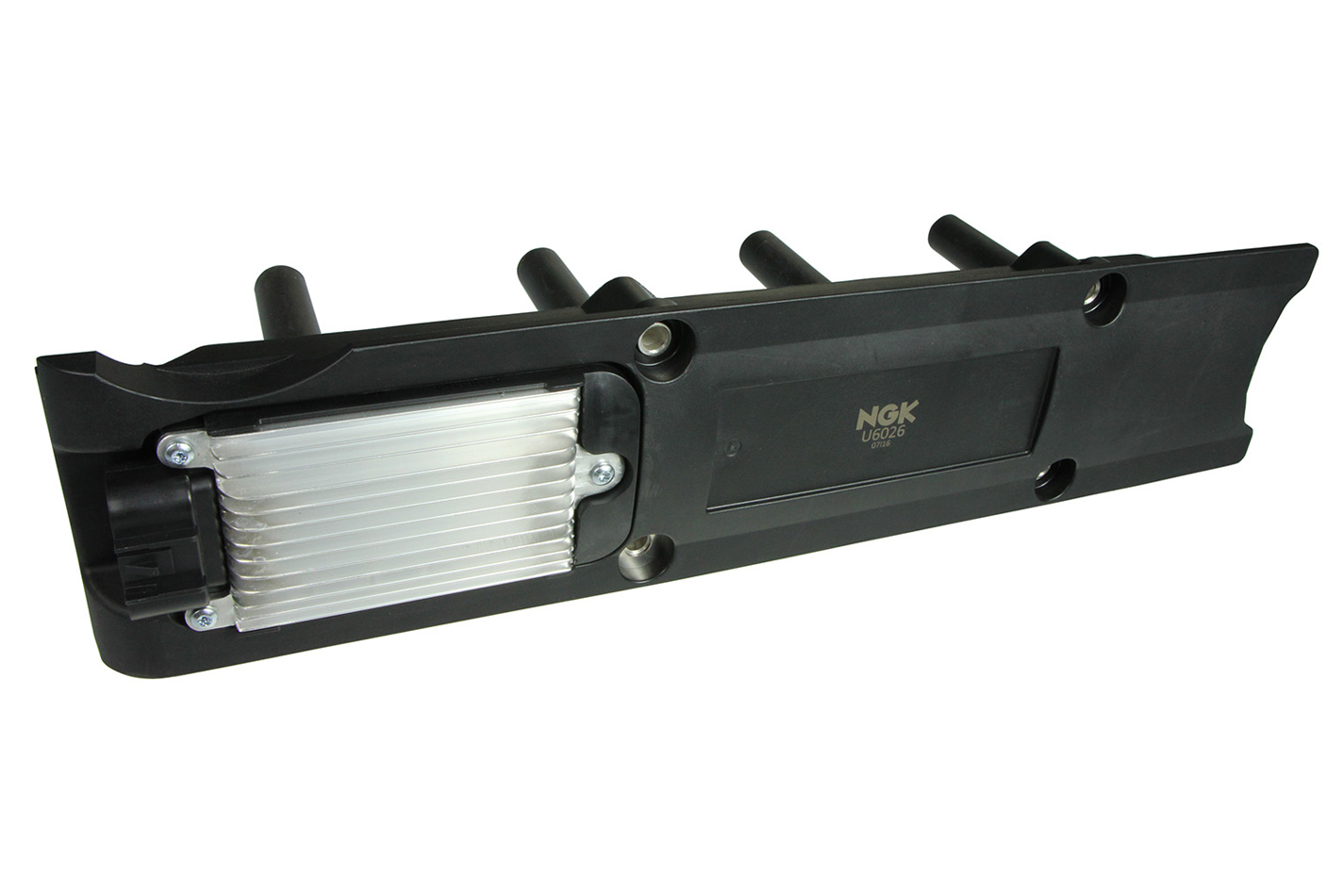 NGK U6026 Ignition Coil Pack, Coil-On-Plug Rail System, OE Specs, Black, Each