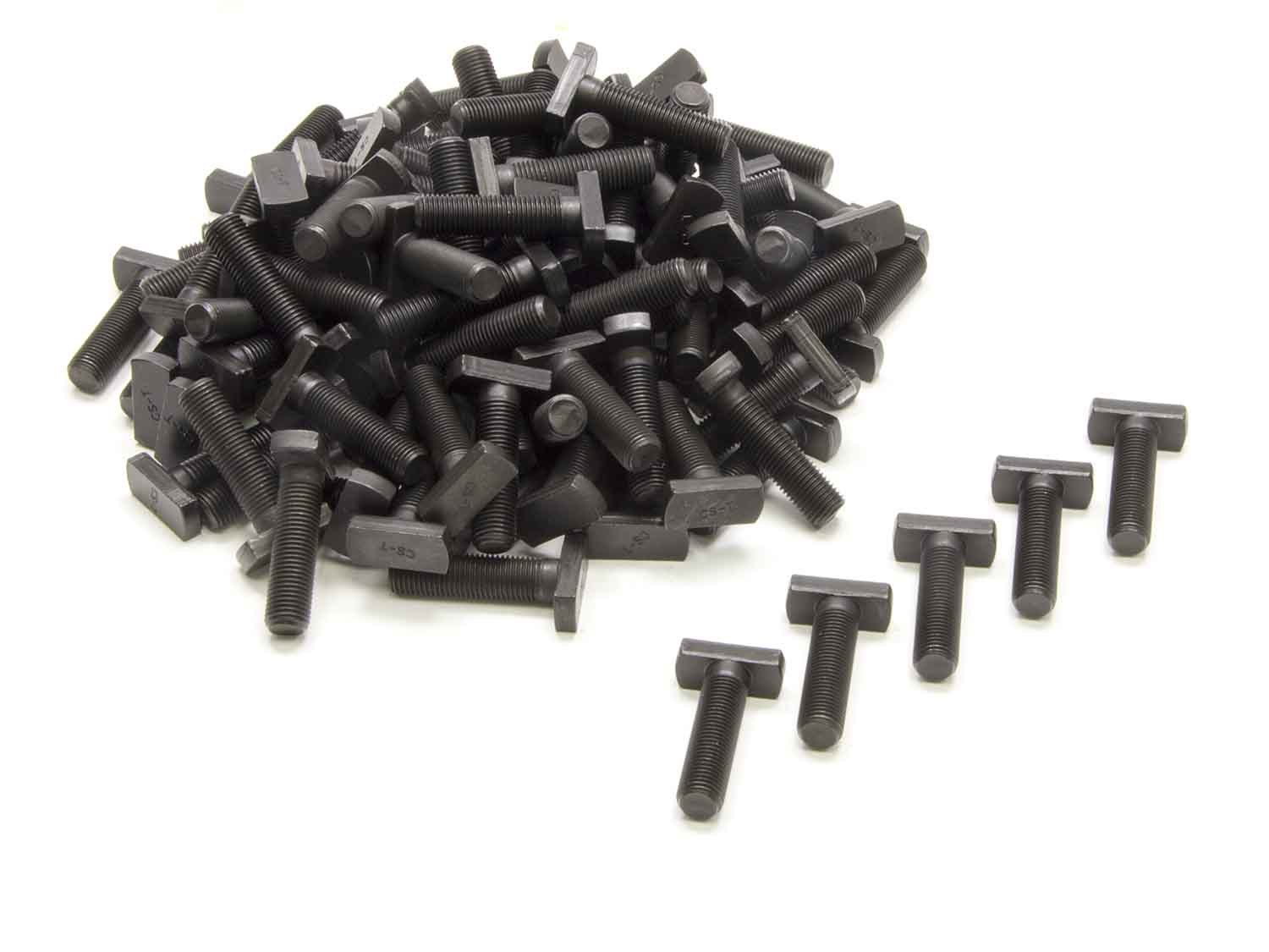 Nine Plus 95042 T-Bolt, 3/8-24 in Thread, Steel, Black Oxide, Backing Plate, Ford 9 in, Set of 100