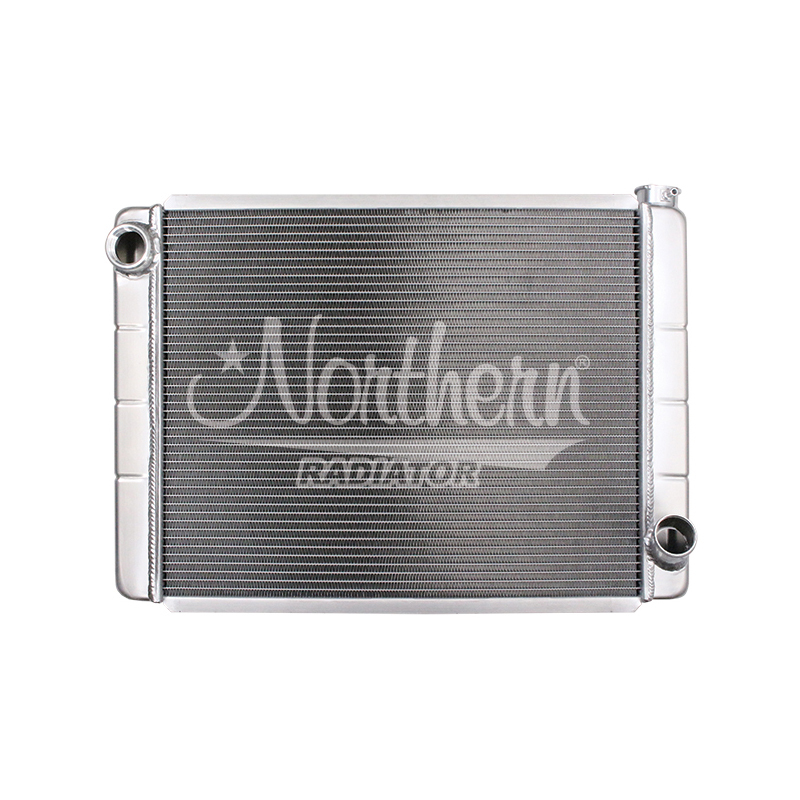 Northern Radiator 204123 Radiator, Race Pro, 28 in W x 19 in H x 3-1/8 in D, Single Pass, Driver Side Inlet, Passenger Side Outlet, Aluminum, Natural, Each
