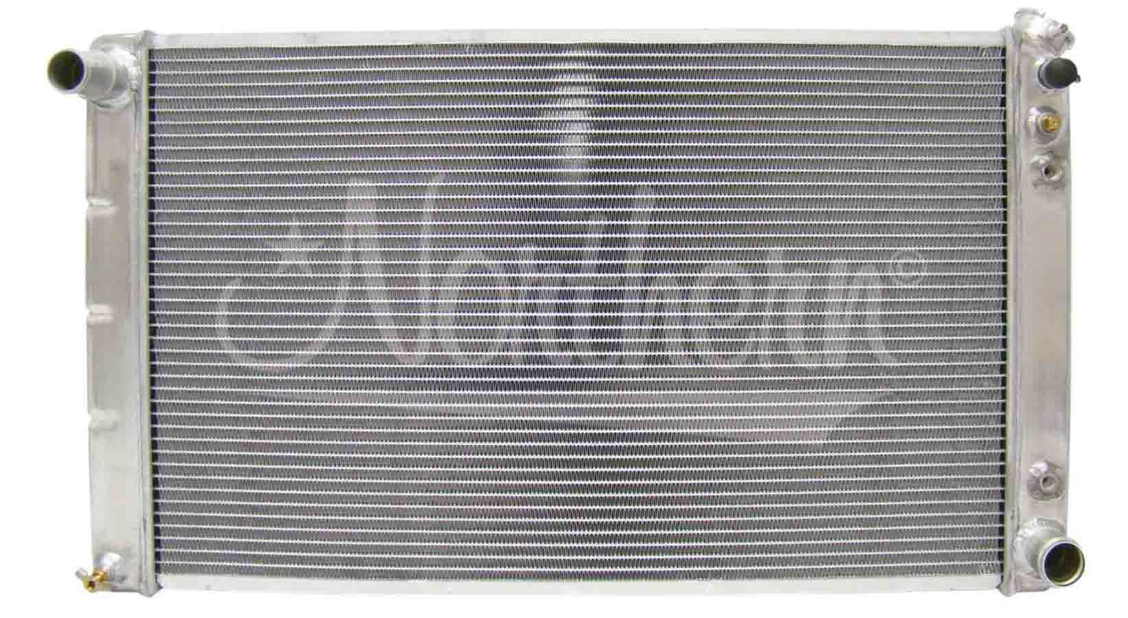 Northern Radiator 205026 Radiator, 33 in W x 18-3/8 in H x 3-1/8 in D, Passenger Side Inlet, Driver Side Outlet, Aluminum, Natural, Automatic, GM 1965-86, Each