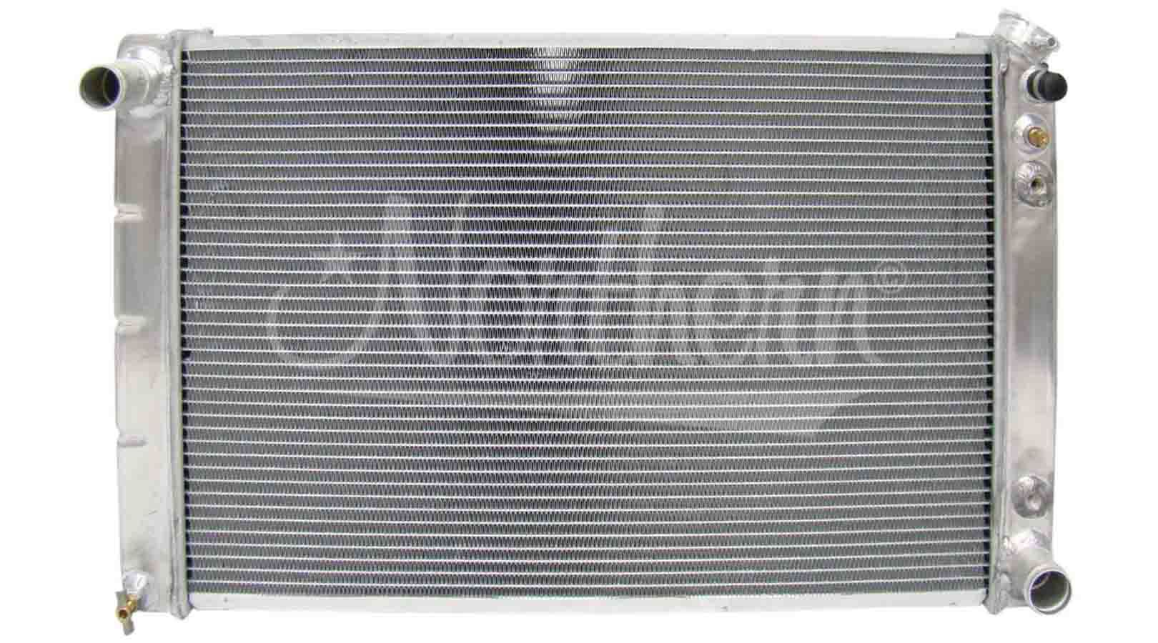 Northern Radiator 205027 Radiator, 30-5/8 in W x 18-5/8 in H x 3-1/8 in D, Passenger Side Inlet, Driver Side Outlet, Aluminum, Natural, Automatic, GM 1965-90, Each