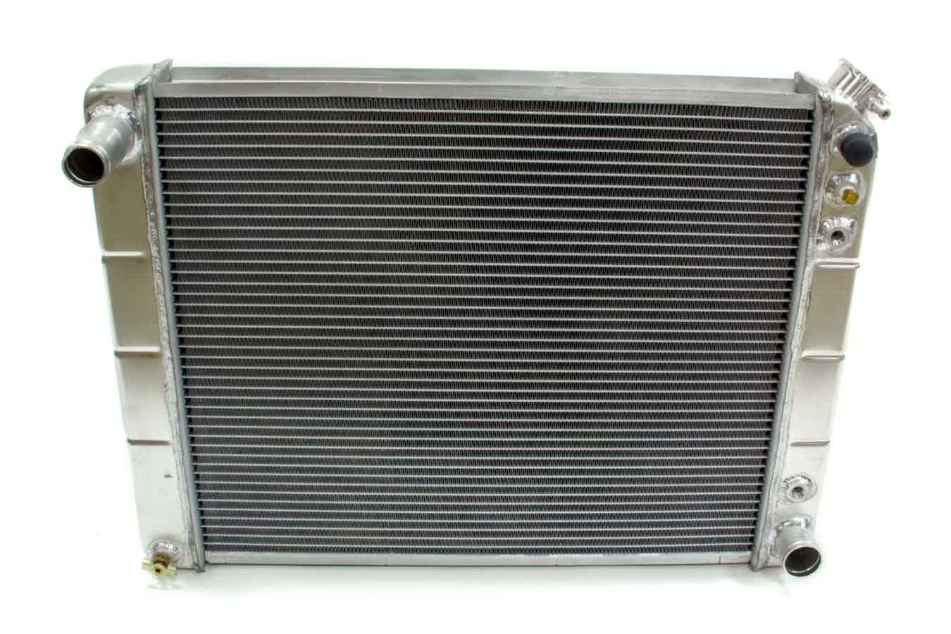 Northern Radiator 205028 Radiator, 25-3/8 in W x 18-5/8 in H x 3-1/8 in D, Passenger Side Inlet, Driver Side Outlet, Aluminum, Natural, Automatic, GM 1966-88, Each