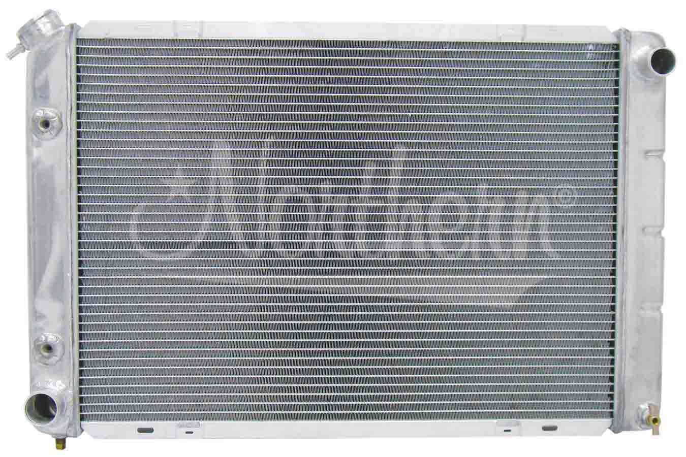 Northern Radiator 205029 Radiator, 29 in W x 18-7/8 in H x 3-1/8 in D, Passenger Side Inlet, Driver Side Outlet, Aluminum, Natural, Automatic, Ford Mustang 1980-93, Each