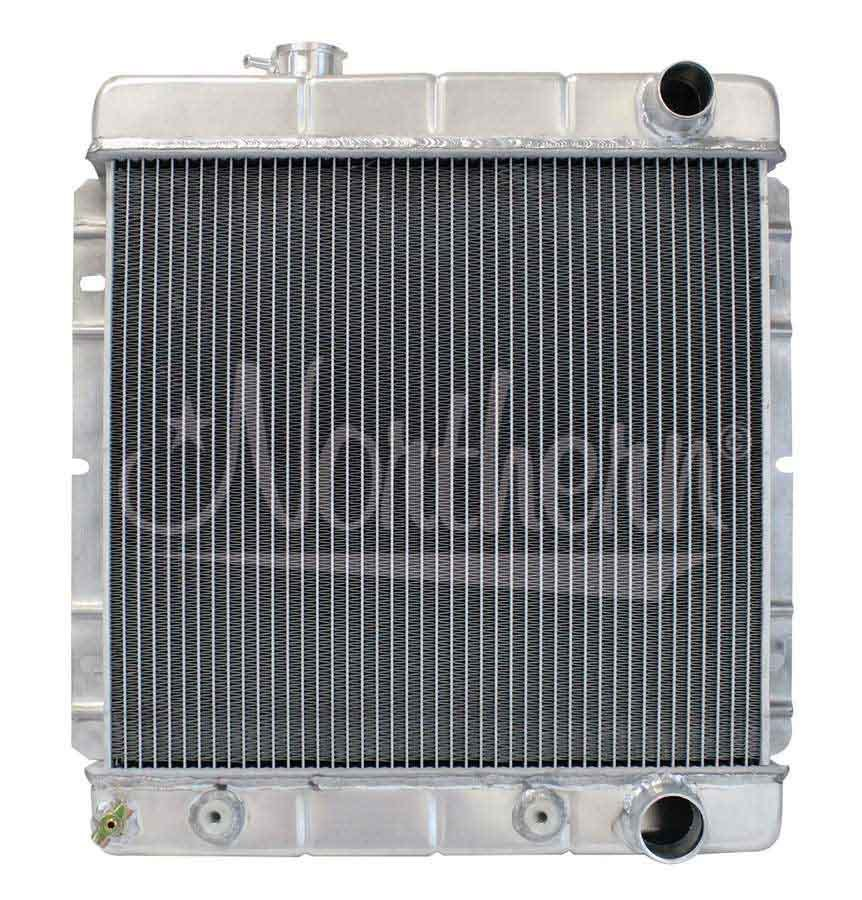 Northern Radiator 205030 Radiator, 18-1/2 in W x 20-1/4 in H x 3-1/8 in D, Passenger Side Inlet, Driver Side Outlet, Aluminum, Natural, Automatic, Ford Mustang 1964-66, Each