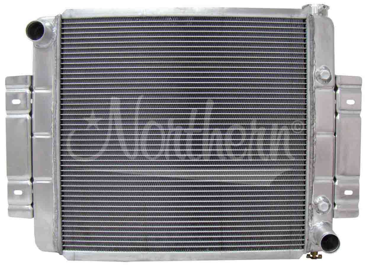 Northern Radiator 205054 Radiator, 23-3/4 in W x 19-5/8 in H x 3-1/8 in D, Passenger Side Inlet, Driver Side Outlet, Aluminum, Natural, V8 Conversion, Jeep CJ 1973-85, Each