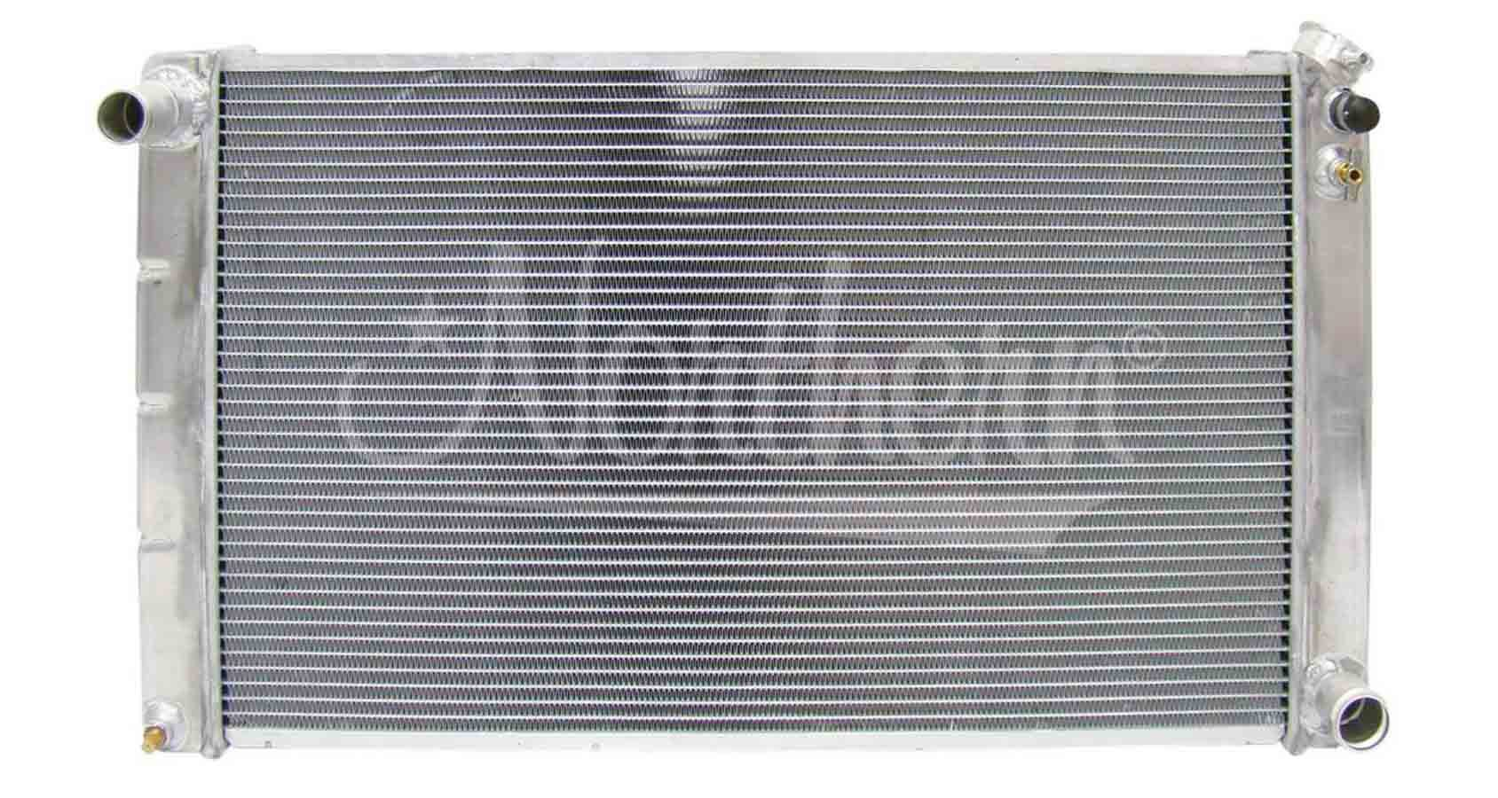 Northern Radiator 205055 Radiator, 33 in W x 18-3/8 in H x 3-1/8 in D, Driver Side Inlet, Passenger Side Outlet, Aluminum, Natural, Manual, GM 1964-98, Each