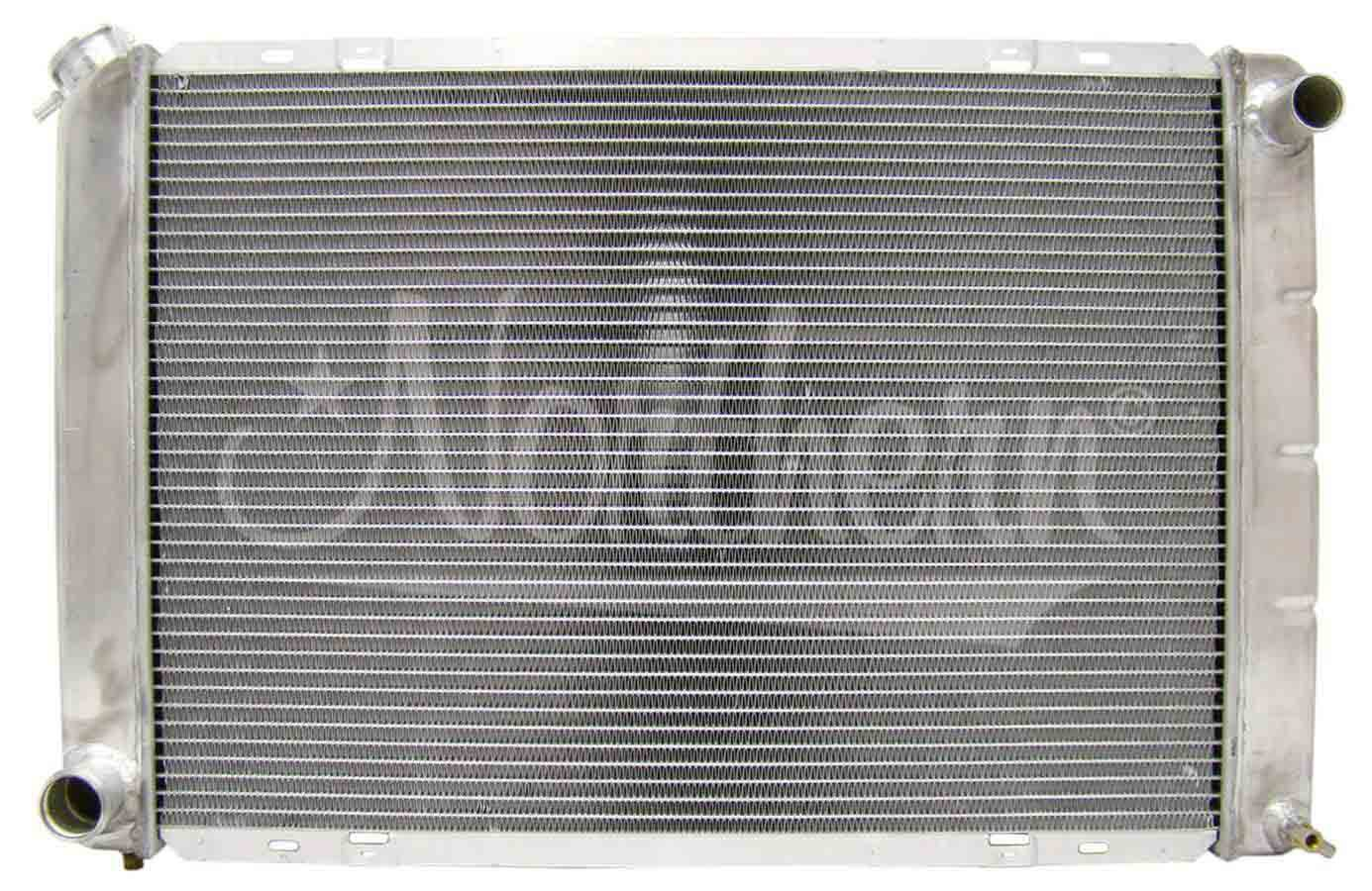 Northern Radiator 205058 Radiator, 29 in W x 18-7/8 in H x 3-1/8 in D, Passenger Side Inlet, Driver Side Outlet, Aluminum, Natural, Manual, Ford Mustang 1980-93, Each