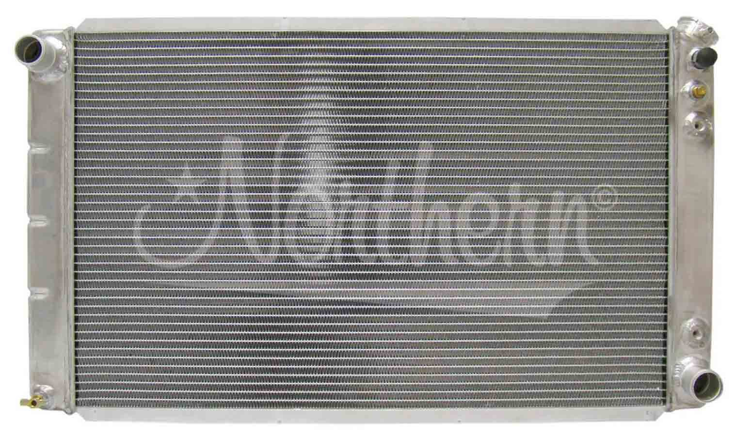 Northern Radiator 205065 Radiator, 33 in W x 18-1/8 in H x 3-1/8 in D, Passenger Side Inlet, Driver Side Outlet, Aluminum, Natural, Automatic, GM Fullsize Truck 1973-91, Each