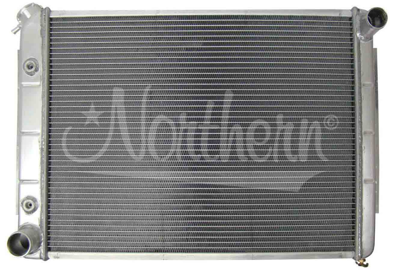 Northern Radiator 205071 Radiator, 26-1/4 in W x 18-1/2 in H x 3-1/8 in D, Passenger Side Inlet, Driver Side Outlet, Aluminum, Natural, Automatic, Mopar 1966-80, Each