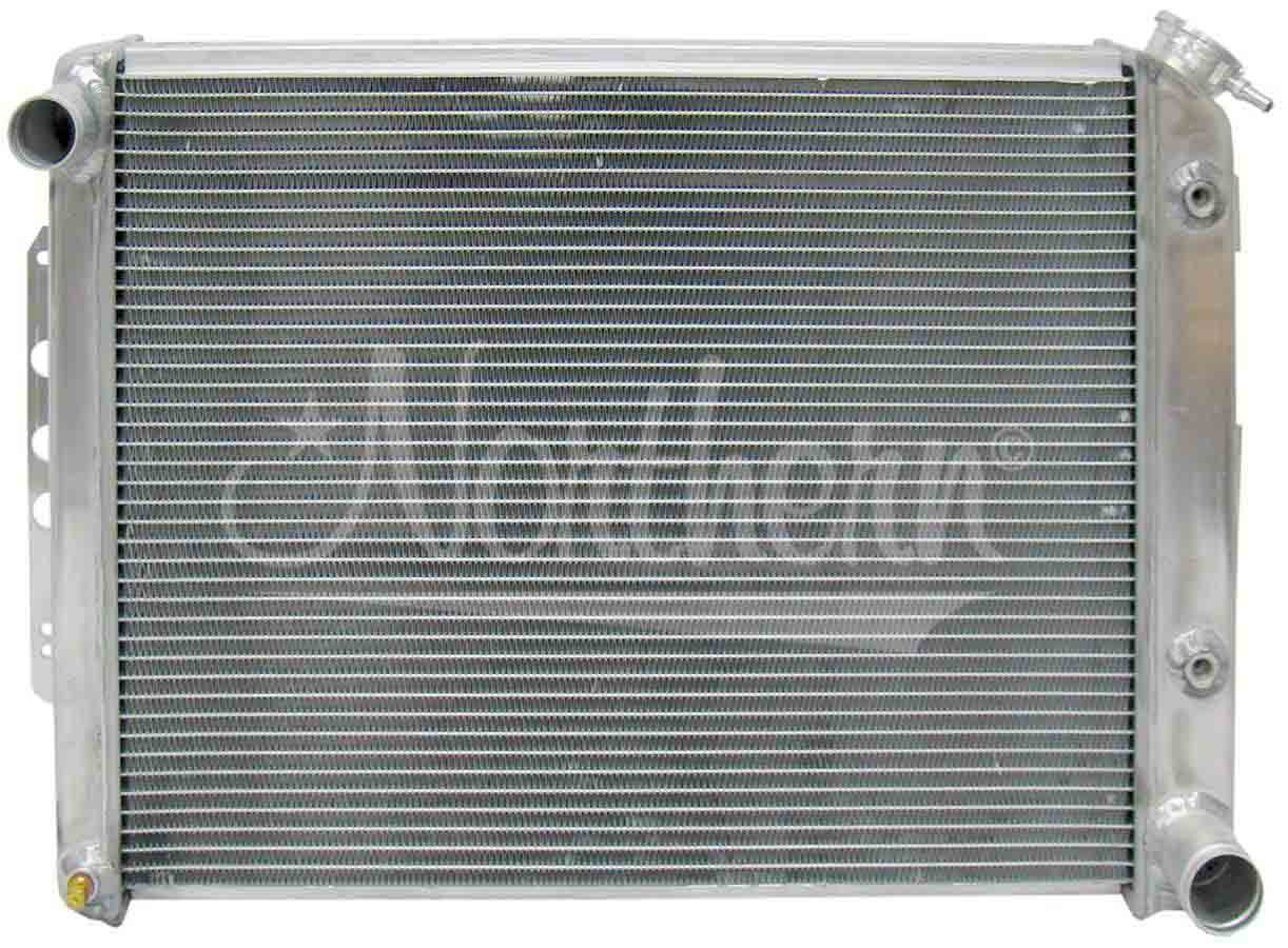 Northern Radiator 205072 Radiator, 25-7/8 in W x 18-7/8 in H x 3-1/8 in D, Passenger Side Inlet, Driver Side Outlet, Aluminum, Natural, Automatic, GM F-Body 1967-69, Each